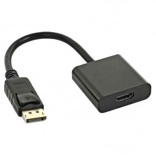Кабель - адаптер, DisplayPort - HDMI 20M/19F, AT-6852 - 0.1 метра, чёрный