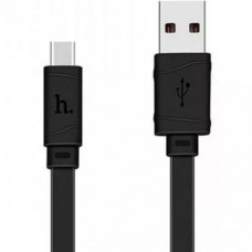 Кабель USB Type Cm - USB*2.0 Am, Hoco X5 2А Black, черный - 1 метр