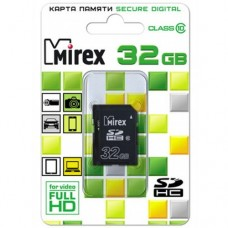 Карта памяти 32 Гб, SDHC Secure Digital flash card, класс 10 - Mirex
