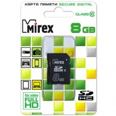 Карта памяти 8 Гб, SDHC Secure Digital flash card, класс 10 - Mirex
