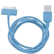 Кабель USB Am-Apple 30 контактов, Human Friends, синий - 1 метр