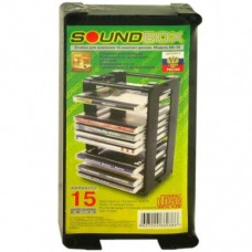 Подставка для CD дисков CD-15 Sound Box на 15 боксов, чёрная