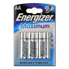 Батарейка AA щелочная ENERGIZER LR6-4BL MAXIMUM в блистере 4шт.