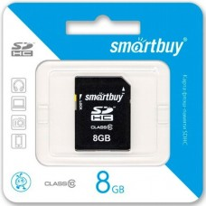 Карта памяти 8 Гб, SDHC Secure Digital flash card, класс 10 - SmartBuy