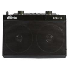 Радиоприемник Ritmix RPR-215 Black, usb mp3-wma, аудио вход AUX, FM, СВ AM, КВ SW, питание 3-220 вольт